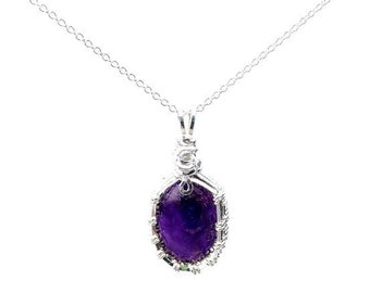 Handmade Amethyst gemstone necklace