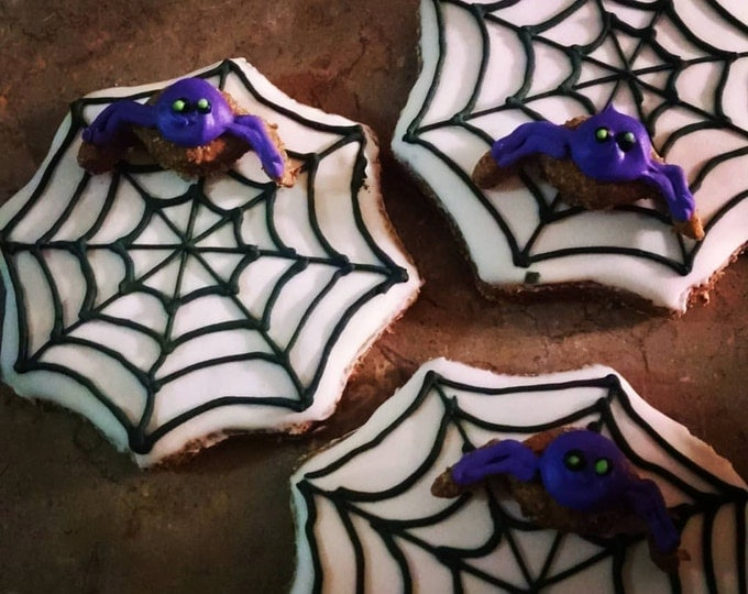 3 Spider web Dog Treats Pumpkin flavored Halloween Hauntingly Good