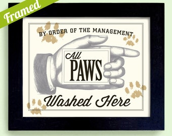 dog wash laundry room decor wipe your paws family dog art clean dog cat grooming bathroom