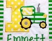 Boys birthday outfit, boys birthday shirt, John Deere, John Deere birthday, tractor, tractor shirt, toddler, John Deere birthday outfit
