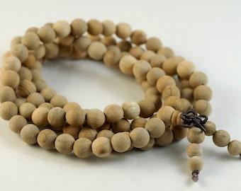 8mm 108PCS Natural Aromatic Wood Beads Indian Sandalwood Prayer Buddha Mala Meditation Beads Round Loose Beads BULK LOT (90182457-392)