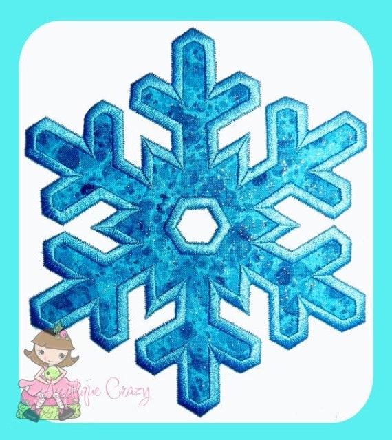Snowflake Applique Embroidery file
