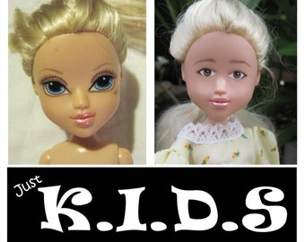 Moxie Girlz Transformed, blonde bratz transformation, doll changed, makeover dolls