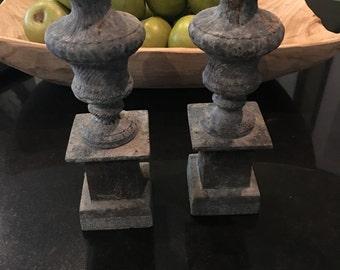 Pair of iron finials