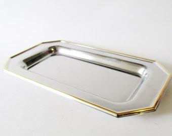 Italian Silver Tray, Pintinox, Hollywood Regency Decor, Barware