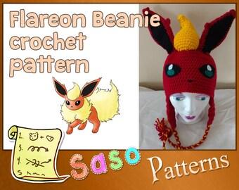 PATTERN - Flareon beanie crochet pattern