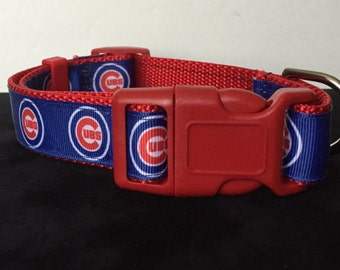 Chicago Cubs  Inspired Dog Collar ... 1.0