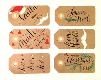 2015 Holiday Gift Tags (6 tags)