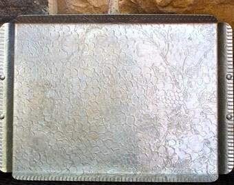 vintage aluminum tray