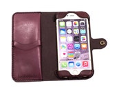 iPhone 6(s) Plus Leather Wallet Case - No Plastic - Clearance Sale / Scratch and Dent
