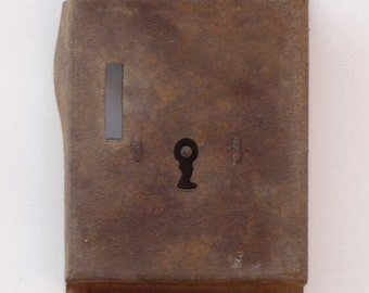 Vintage Rusty Lock, Decorative Lock, Keyhole