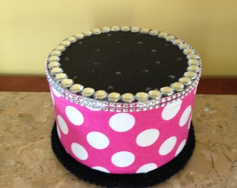 Cake Pop Stand Polka Dot Print Cake stand/Topper Centerpiece display/Party/Table Decoration with Rhinestones