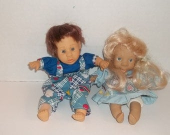 Lot of 2 bean bag expression dolls by GI-Go and Novelty, Inc.