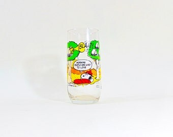 Snoopy Camp Glasses Peanuts Mcdonalds Glass Mcdonald Vintage Collection Charlie Brown Drinking 1983