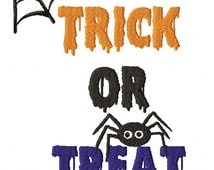 Trick or Treat Embroidery Design 5x7
