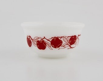 Hazel Atlas Cereal Bowl - Red Apples - Very Collectible
