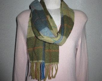 vintage scarves muffler 100% lambswool made in ireland