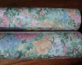 Retro Wallpaper Rolls, Impressionistic Floral Style Rolls in original bolt packaging, unopened, with matching Lot Numbers in Mint Condition