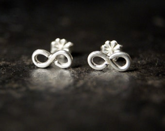 Infinity Stud Earrings in Sterling Silver