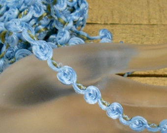 Blue Rosette Net Trim