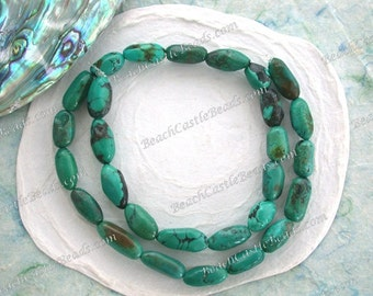 Turquoise Beads, 1 Strand 10 to 17mm Genuine Chinese Turquoise Beads, Semi Precious Stone Beads, Real Turquoise Beads SP-365-4