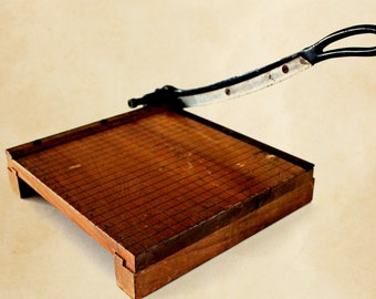vintage paper cutter Ingento # 3  -Ideal School Supply Co.