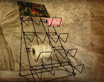 antique wire store display---Royal Dips Factory Fresh 5 Cents, antique store, wire rack
