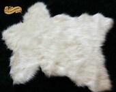 Shag Rug /  Bear Skin Rug Premium Faux Fur Polar Bear Accent Rug Throw Rug Pelt 7 Colors and Sizes