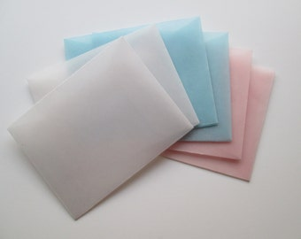 Vellum Envelopes, set of 6