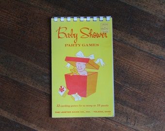 Vintage Booklet - Baby Shower Party Games