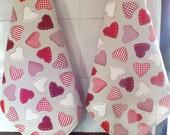 Valentine's Tea Towels - Hostess Gift - Hearts-  Hearts Tea Towles Hostess Wedding Gift