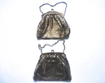 Wedding Purses, Vintage Whiting and Davis Mesh Purses, Gold Handbag, Bridesmaids, Flower Girls, Downton Abbey, Vintage Gold Purse