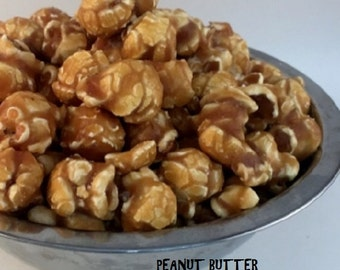 PEANUT BUTTER Freedom Snacks Glazed Gourmet Handcrafted Popcorn
