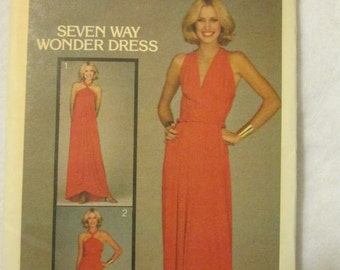 1970s Ladies Butterick Pattern of 7 WAY Wonder DRESS