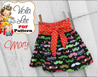 Mary Ruffle Skirt Pattern Infant Skirt Pattern. Girls Skirt Patterns. Toddler Skirt Pattern. PDF Skirt Sewing Pattern. Girls Sewing Pattern