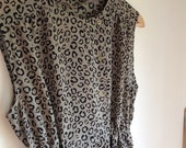 Retro women's animal print summer dress - size 8/size10