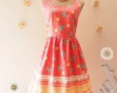 Pink Summer Dress My Carousel Dress Pastel Dress Carnival Dress Circus Bridesmaid Dress Carnival Wedding Dress Casual Dress-XS-XL,Custom