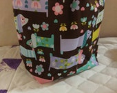 Doggies in flowers Sock Sack - Ready to ship