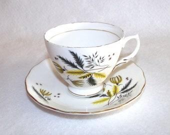 Floral Teacup and Saucer, Colclough 6791