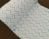 UnPaper Towels with Snaps Eco Friendly Cloth Chevron blue Set of 10