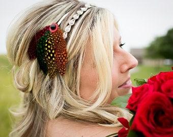 Chicago Blackhawks Feather Headband