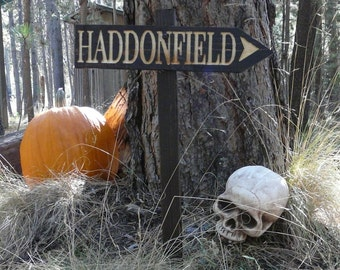 haddonfield halloween lawn ornament sign mike myers horror scary slasher movie decoration john carpenter - Haddonfield Nj Halloween