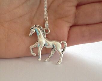Horse necklace - charm necklace - pony stallion UK