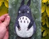 Original Watercolour Illustration of Totoro