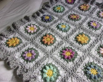 Knit Popcorn Stitch Baby Blanket : Hand Knit Baby Blanket in Popcorn stitch pattern by DarellaBaby
