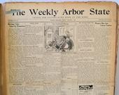 1935 Bound Newspaper Collection Wymore Nebraska History Weekly Arbor State, Genealogy Research, Vintage Advertising, Beatrice Nebraska