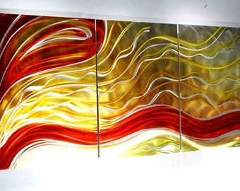 Wilmos Kovacs - Contemporary Multi Panel Metal Wall Art Painting, Metal Wall Sculpture Art Decor, Original Art - W235