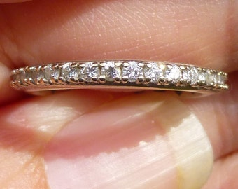Beautiful  14KT white gold  1 Carat  SI-2 H color ETERNITY ring  eternity band wedding band   Size 7