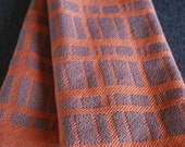 Handwoven Tea or Kitchen Towel Stone Wall- Carrot