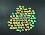 6pcs 10mm color change round mood cabochon for DIY mood rings,charms supplies fingdings 4110120
